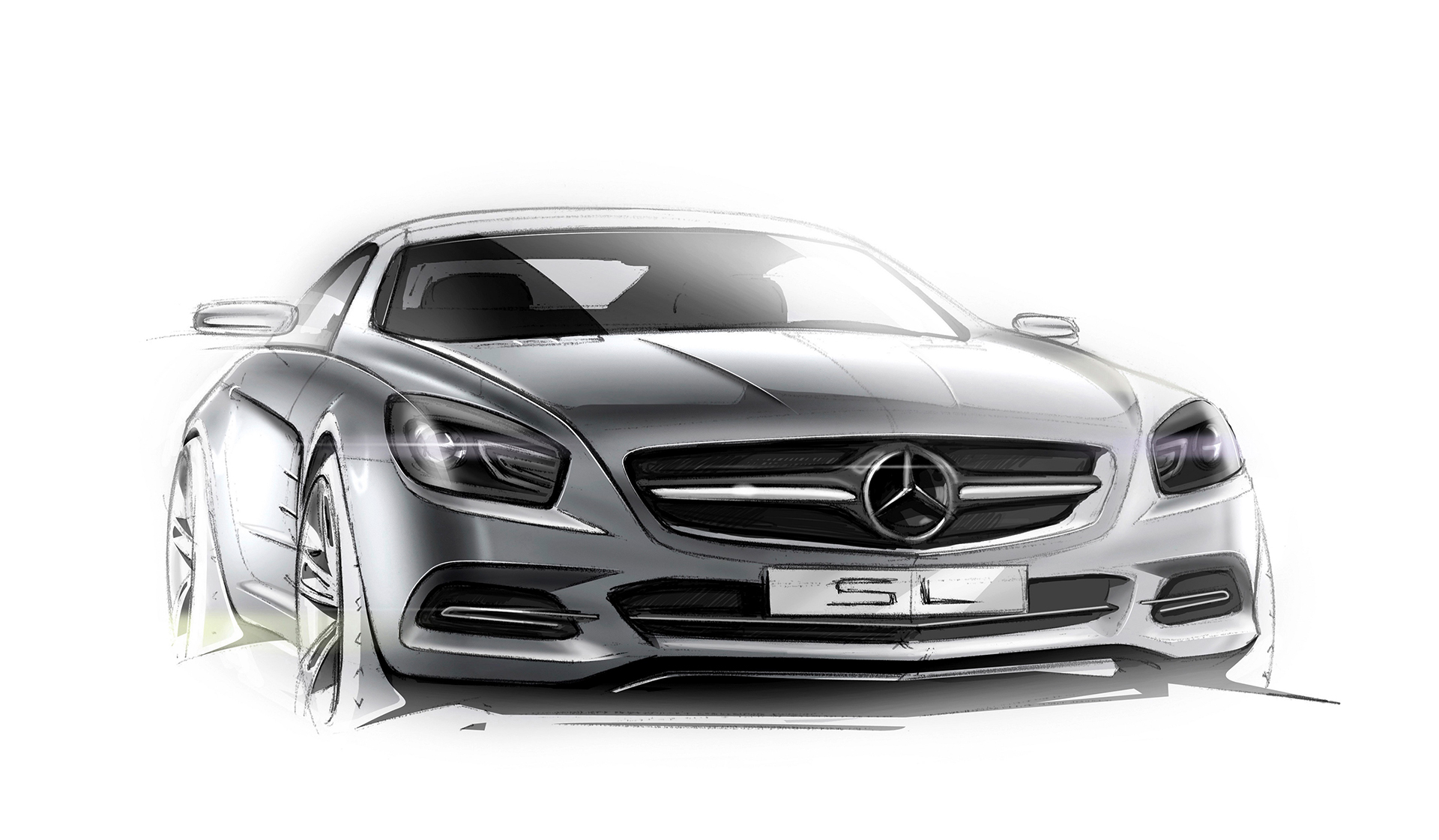 Mercedes-Benz SL - 2015 sketch design