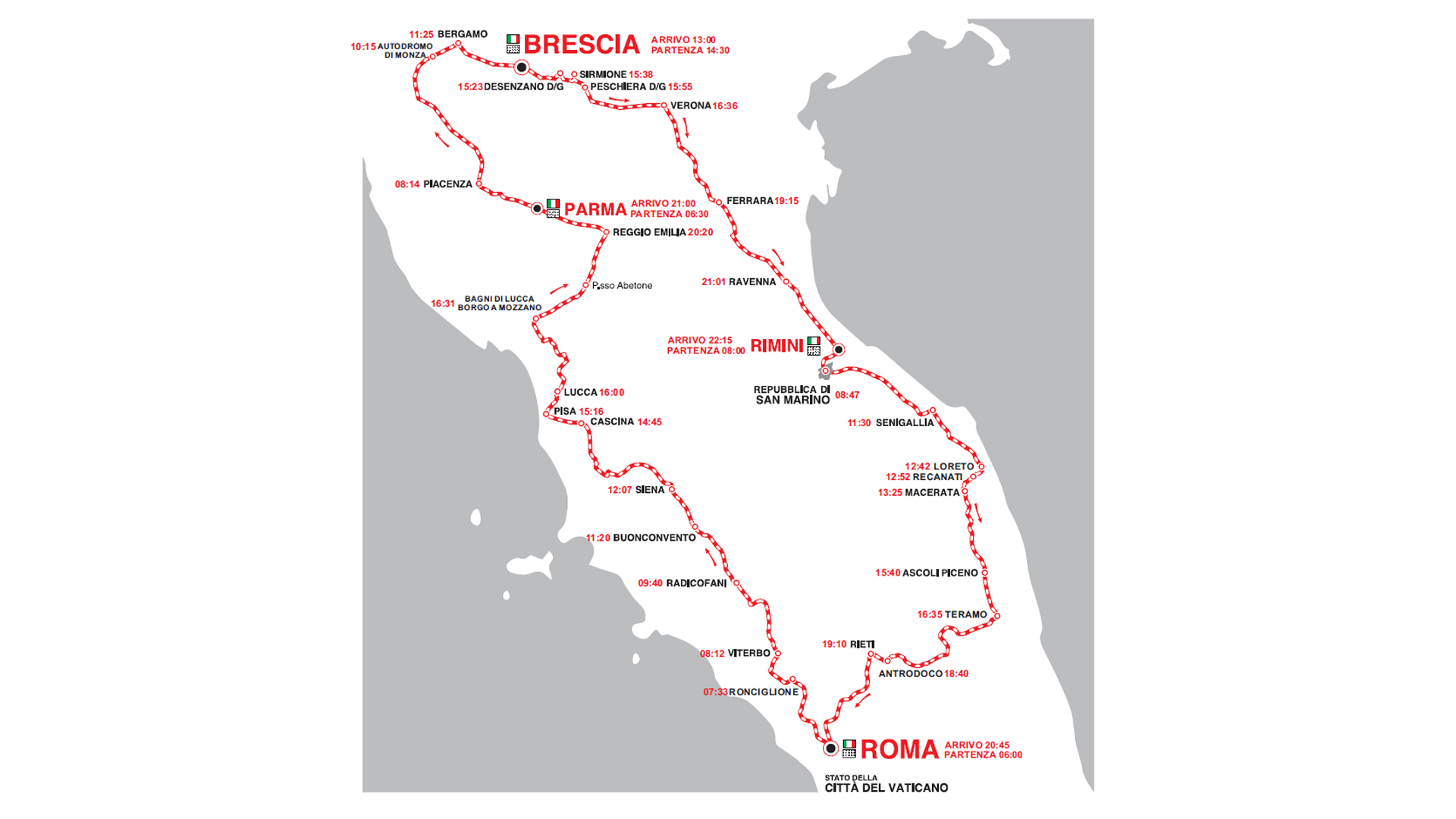 Mille Miglia 2015 - map / carte