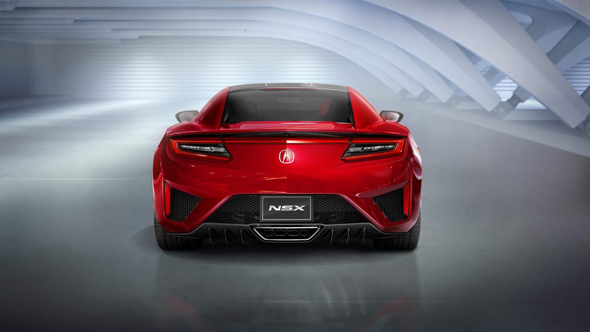 NSX - face arrière - Acura Honda