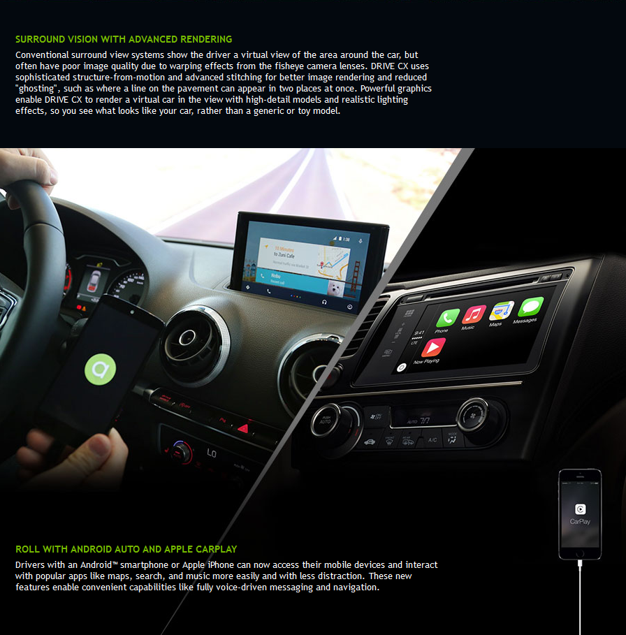 NVIDIA drive/roule avec les OS (auto)mobiles - Apple CarPlay - Google Android Auto