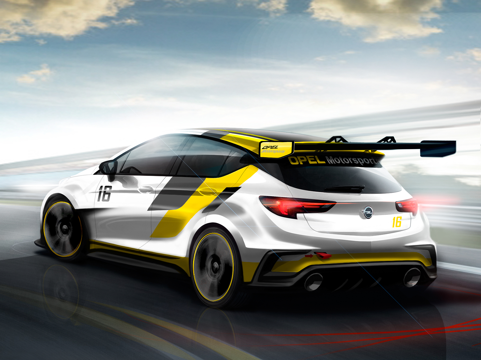 Opel Astra TCR - 2015 - sketch design - arrière / rear - Image - GM Company.