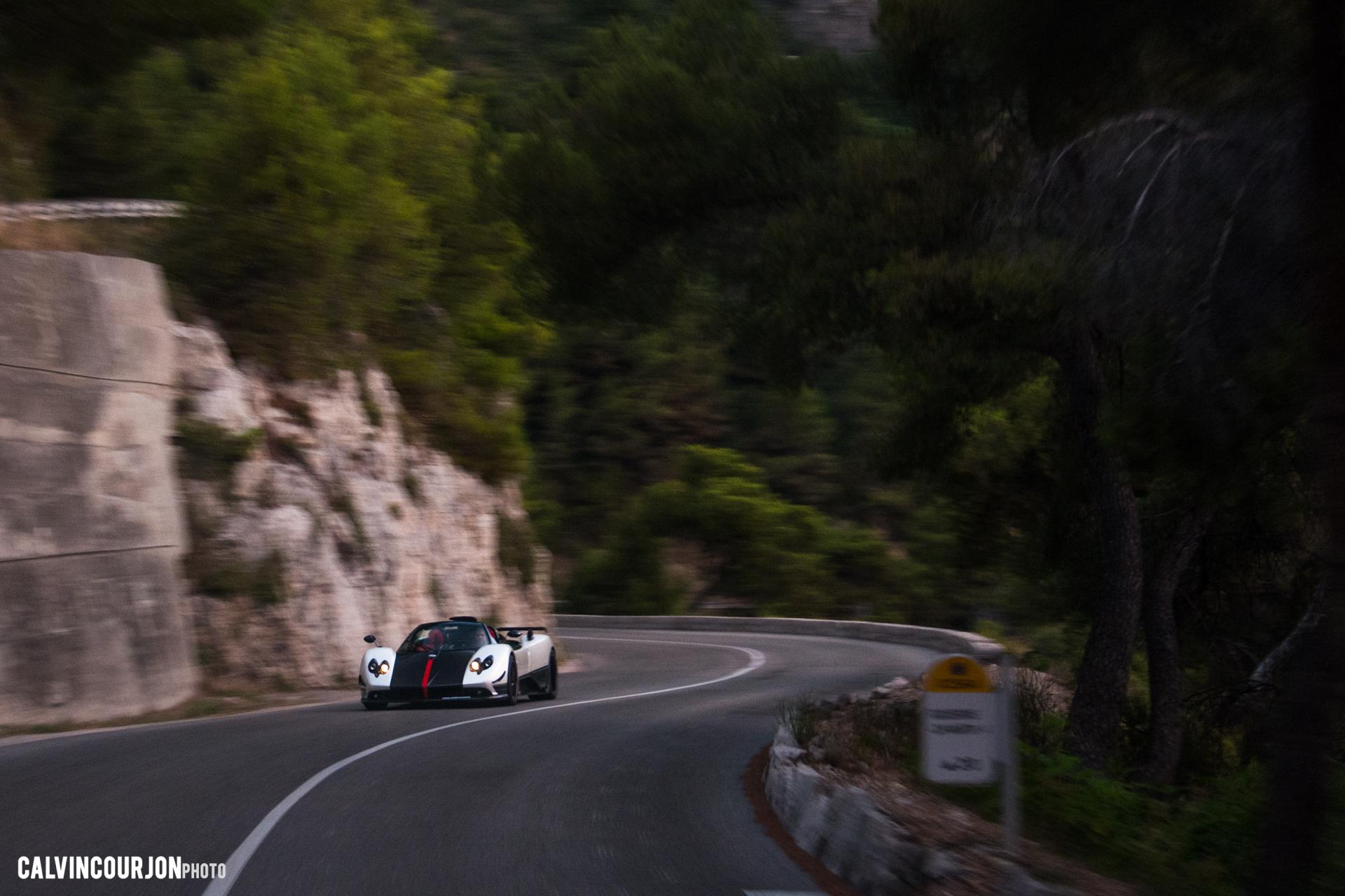 Pagani Zonda Cinque Roadster - sur route - Cote dAzur - 2015 - Calvin Courjon