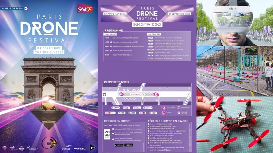 Paris Drone Festival - 2016 - poster - programme