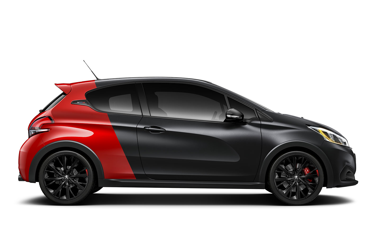 peugeot sport 208 gti rugissage 208 ch pelage noir rouge. Black Bedroom Furniture Sets. Home Design Ideas