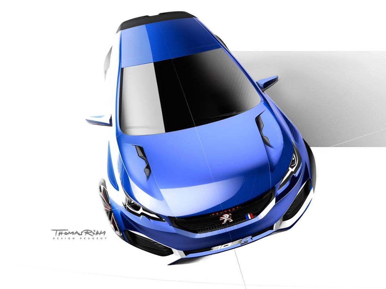 Peugeot 308 R HYbrid - Sketch: front / avant - by Thomas Rohm
