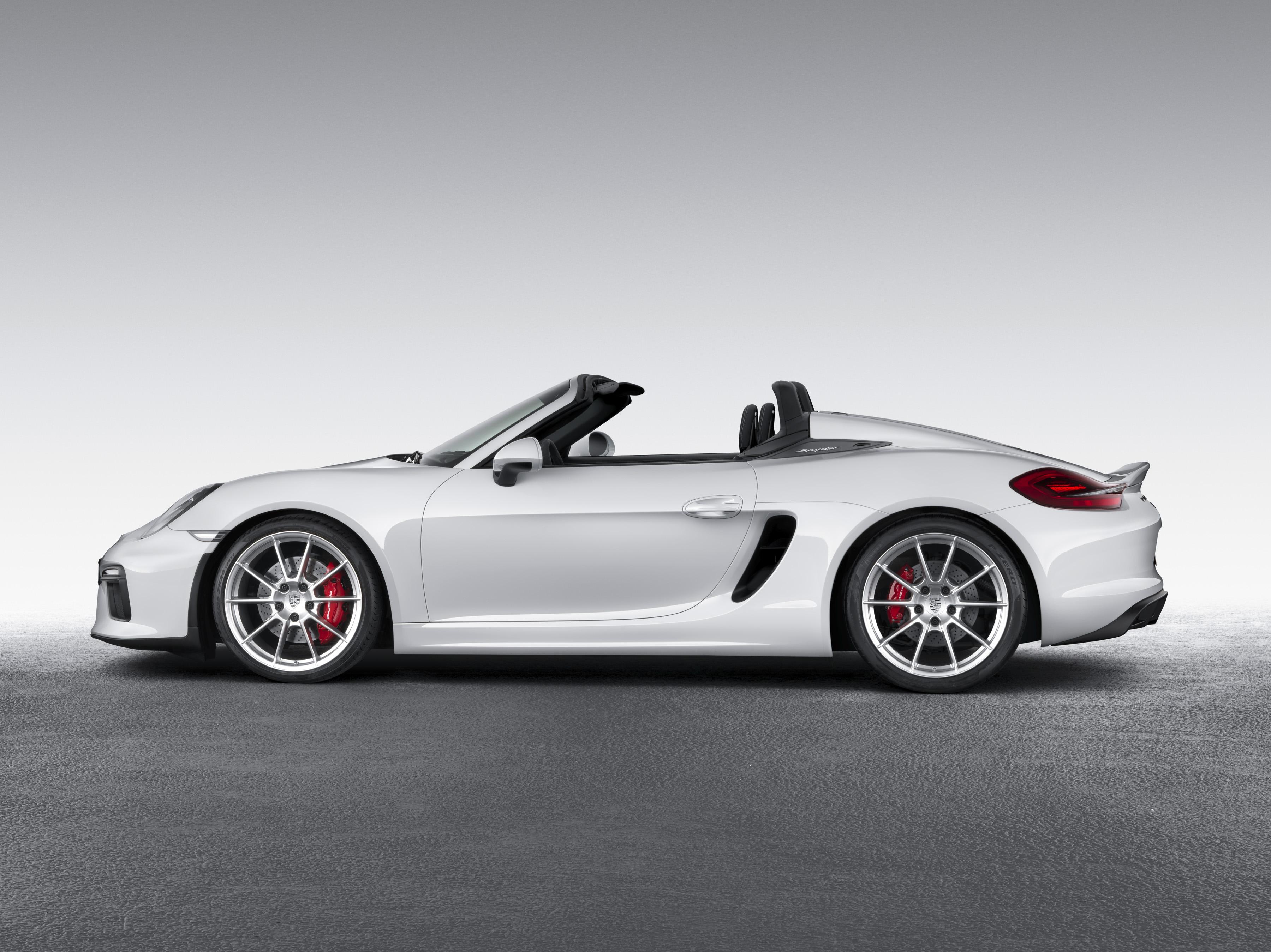 Porsche 2016 Boxster Spyder - profil / side face - open