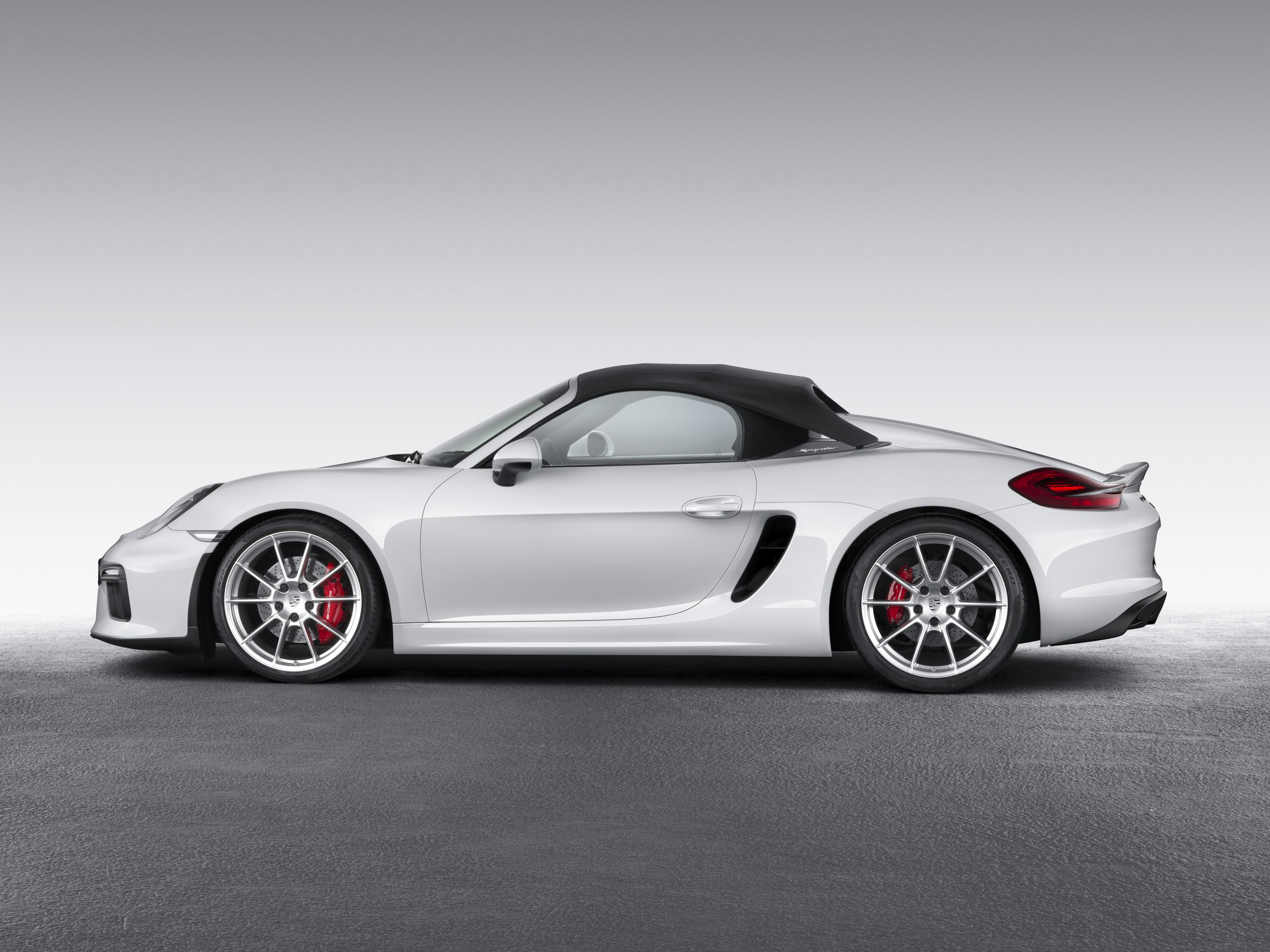 Porsche 2016 Boxster Spyder - profil / side face - close