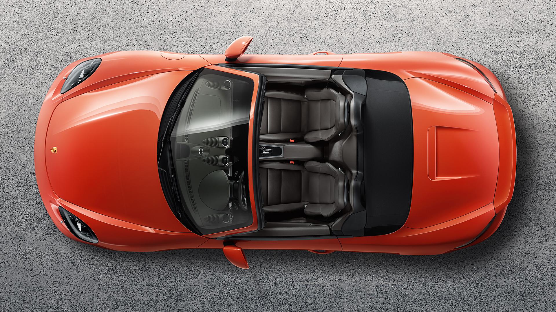 Porsche 718 Boxster S - 2016 - toit ouvert / top