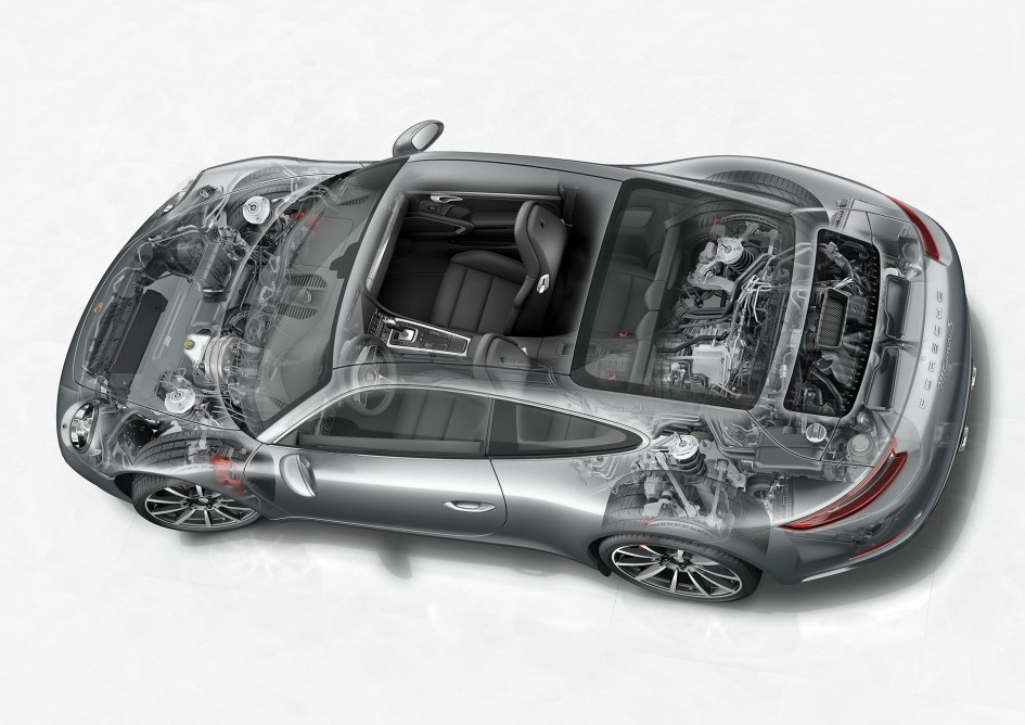 Porsche 911 (Type 991) Carrera S - 2016 - Mechanical engineering / Ingénierie mécanique
