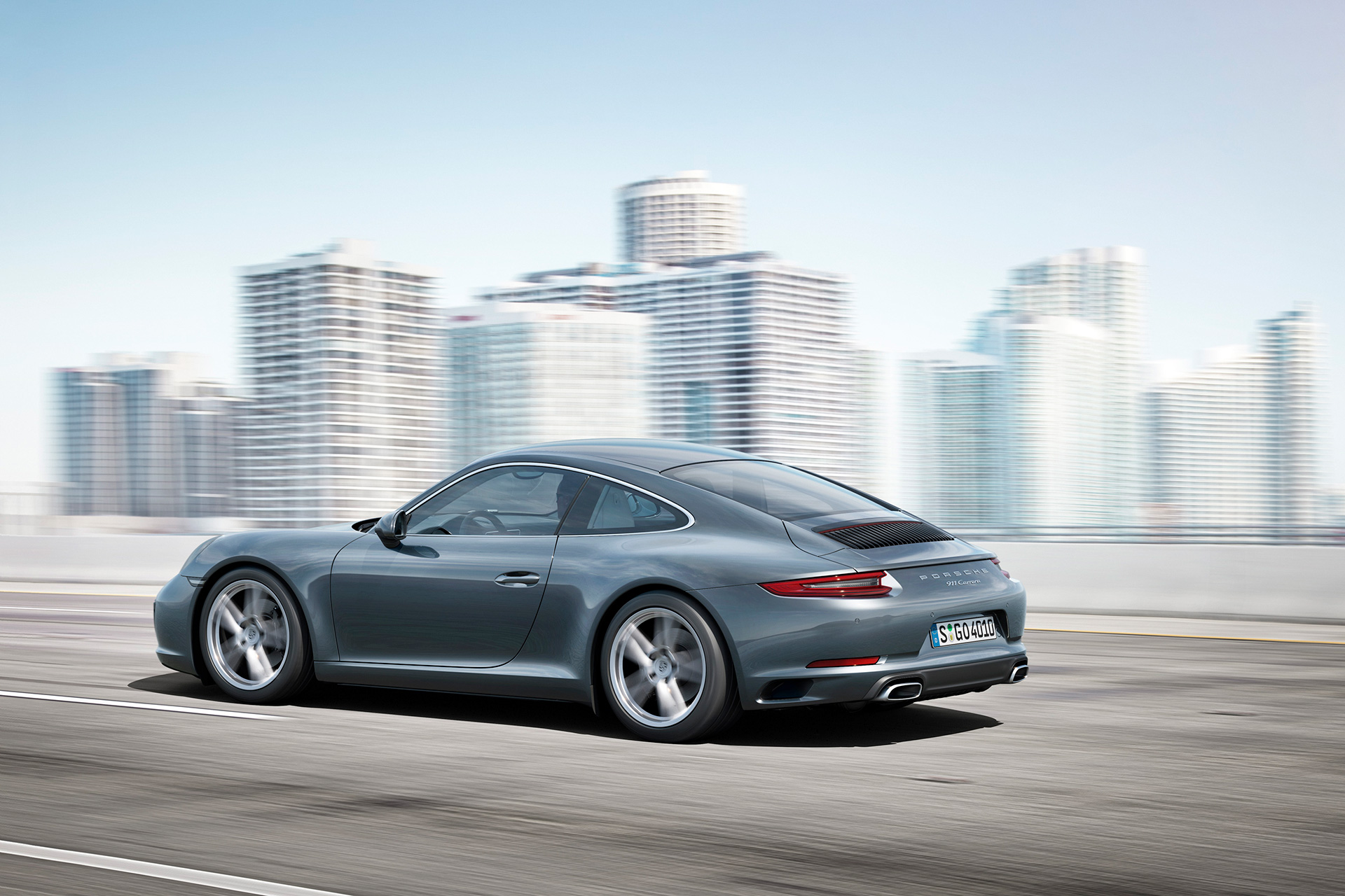 Porsche 911 (Type 991) Carrera - 2016 - side-face / profil