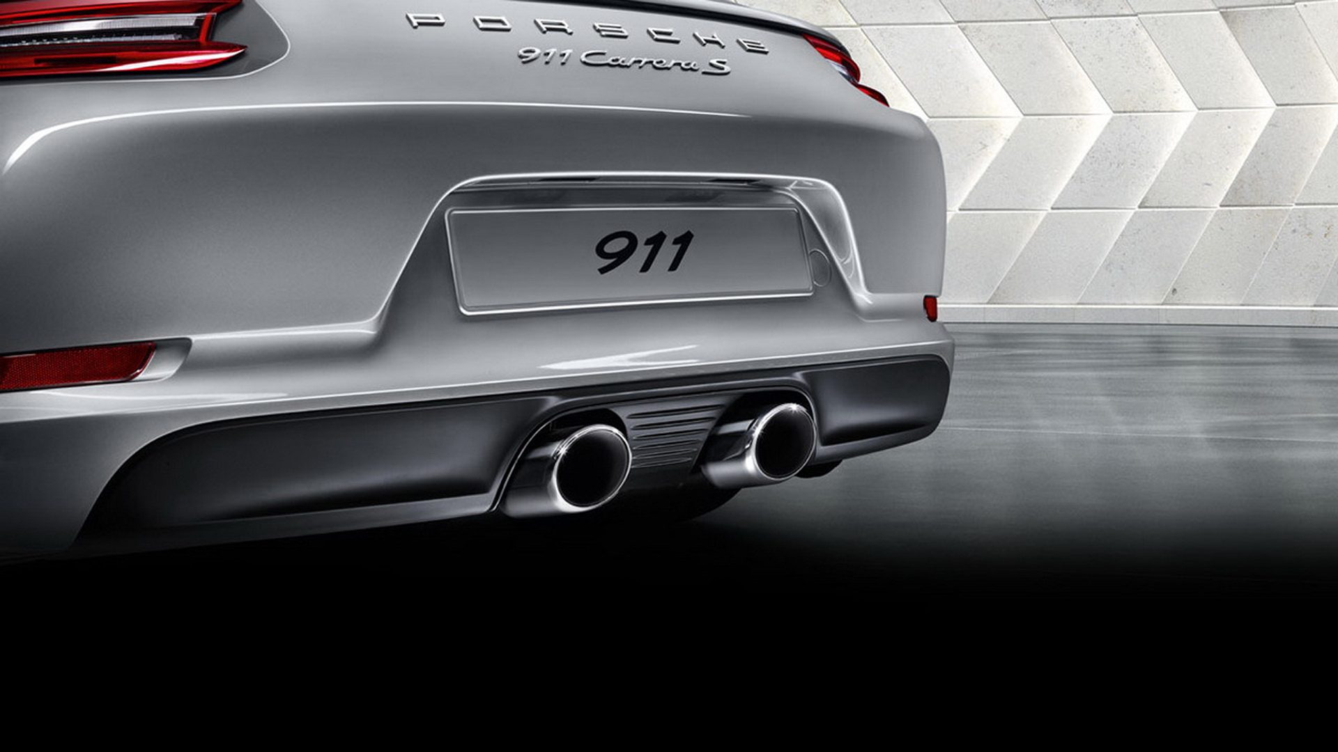 Porsche 911 (Type 991) Carrera S - 2016 - exhaust pipe / pot d'échappement