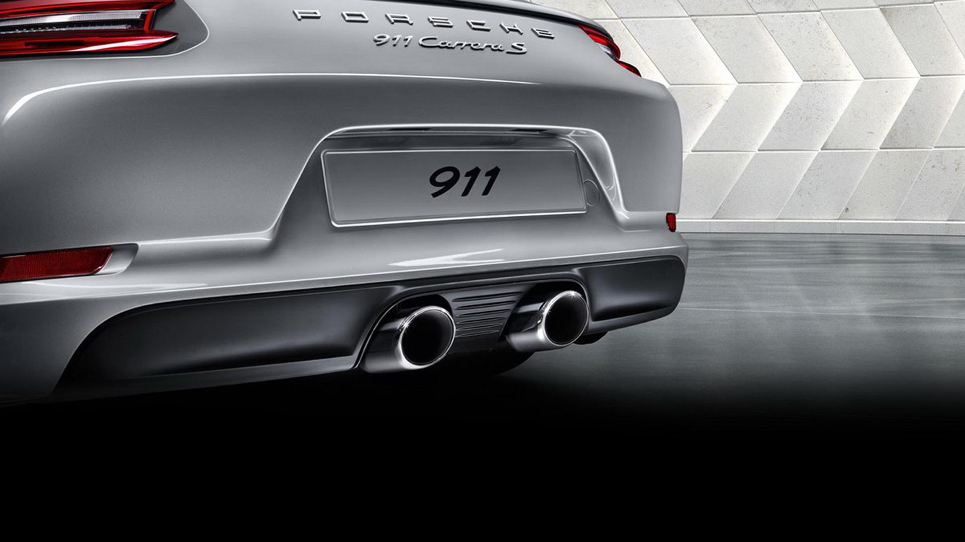 Porsche 911 (Type 991) Carrera S - 2016 - exhaust pipe / pot d'échappement