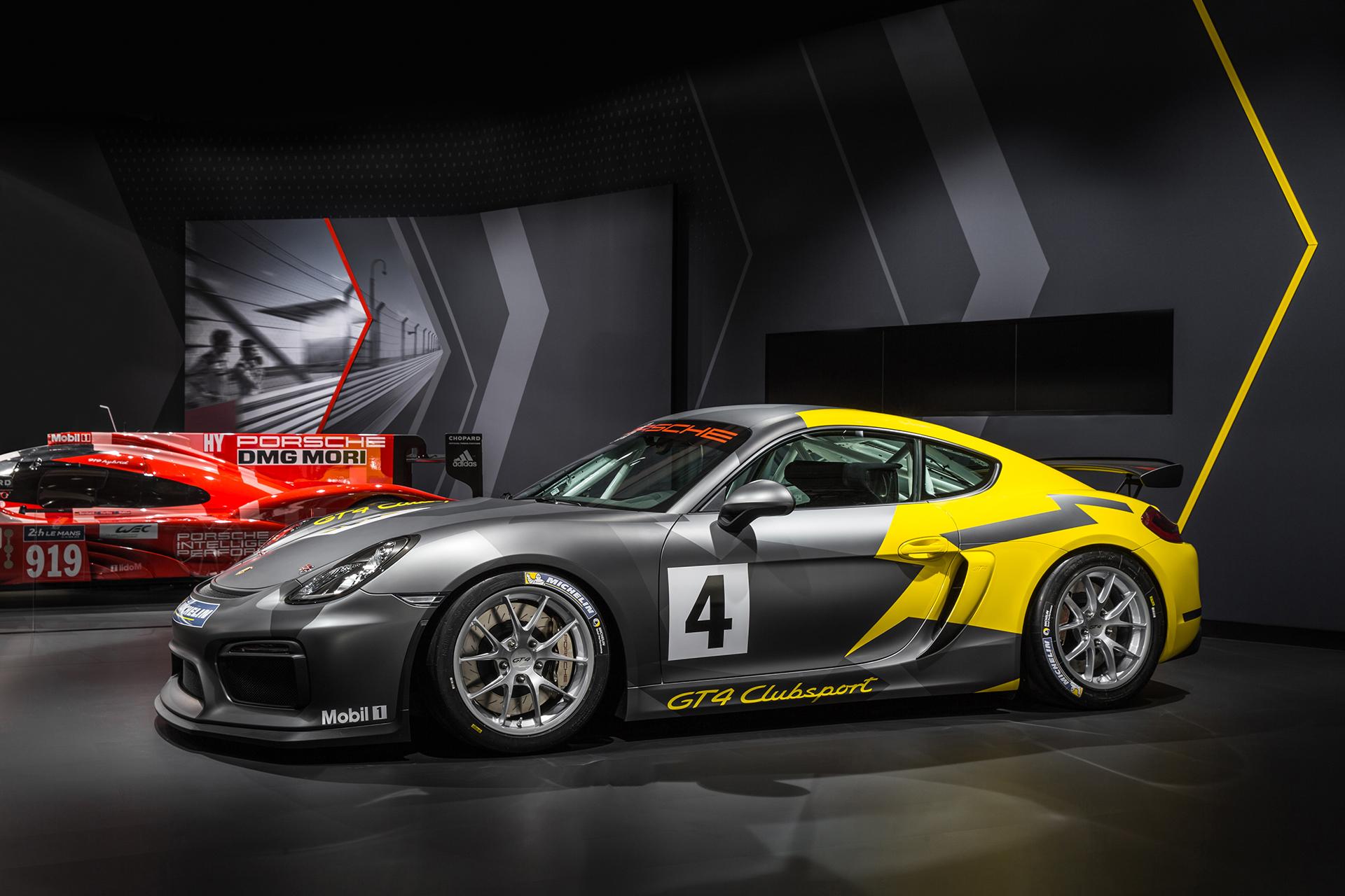 Porsche Cayman GT4 Clubsport - 2015 - profil / side-face - Los Angeles Auto Show