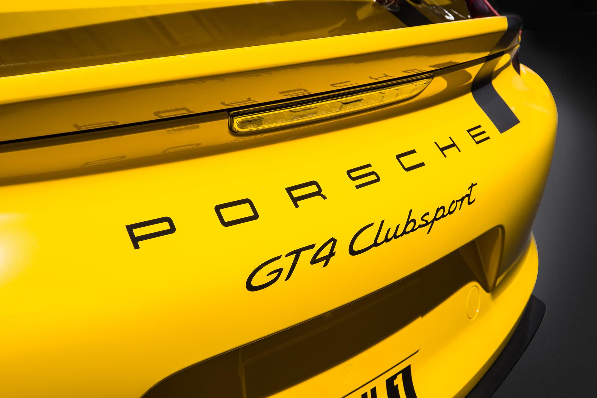 Porsche Cayman GT4 Clubsport - 2015 - signature Clubsport