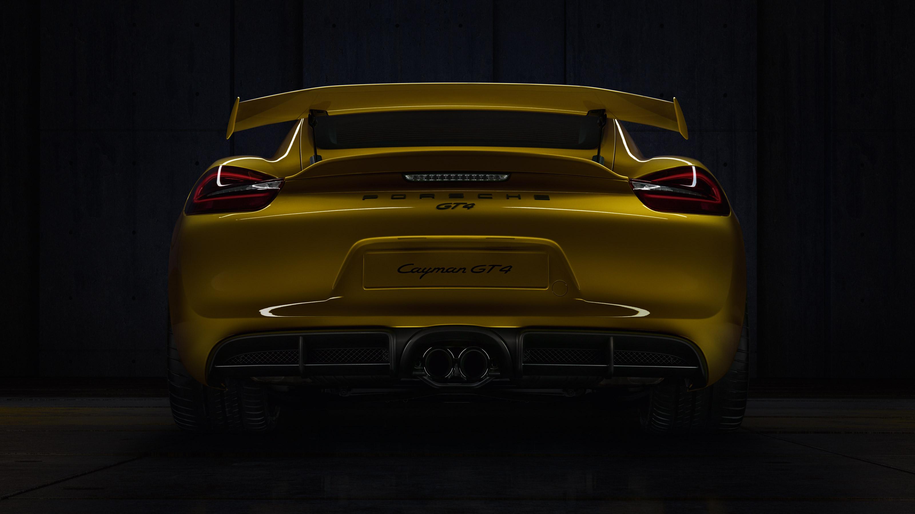 Porsche Cayman GT4 - face arrière