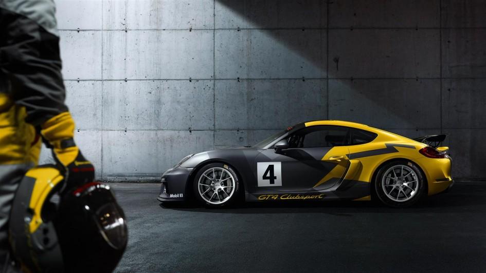 Porsche Cayman GT4 Clubsport - 2015 - profil / side-face
