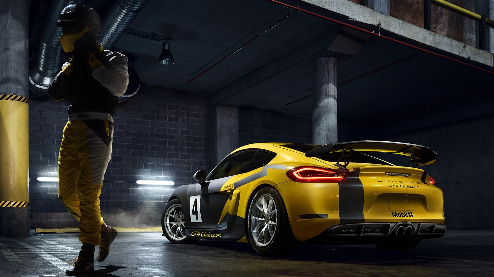 Porsche Cayman GT4 Clubsport - 2015 - profil arrière / rear side-face