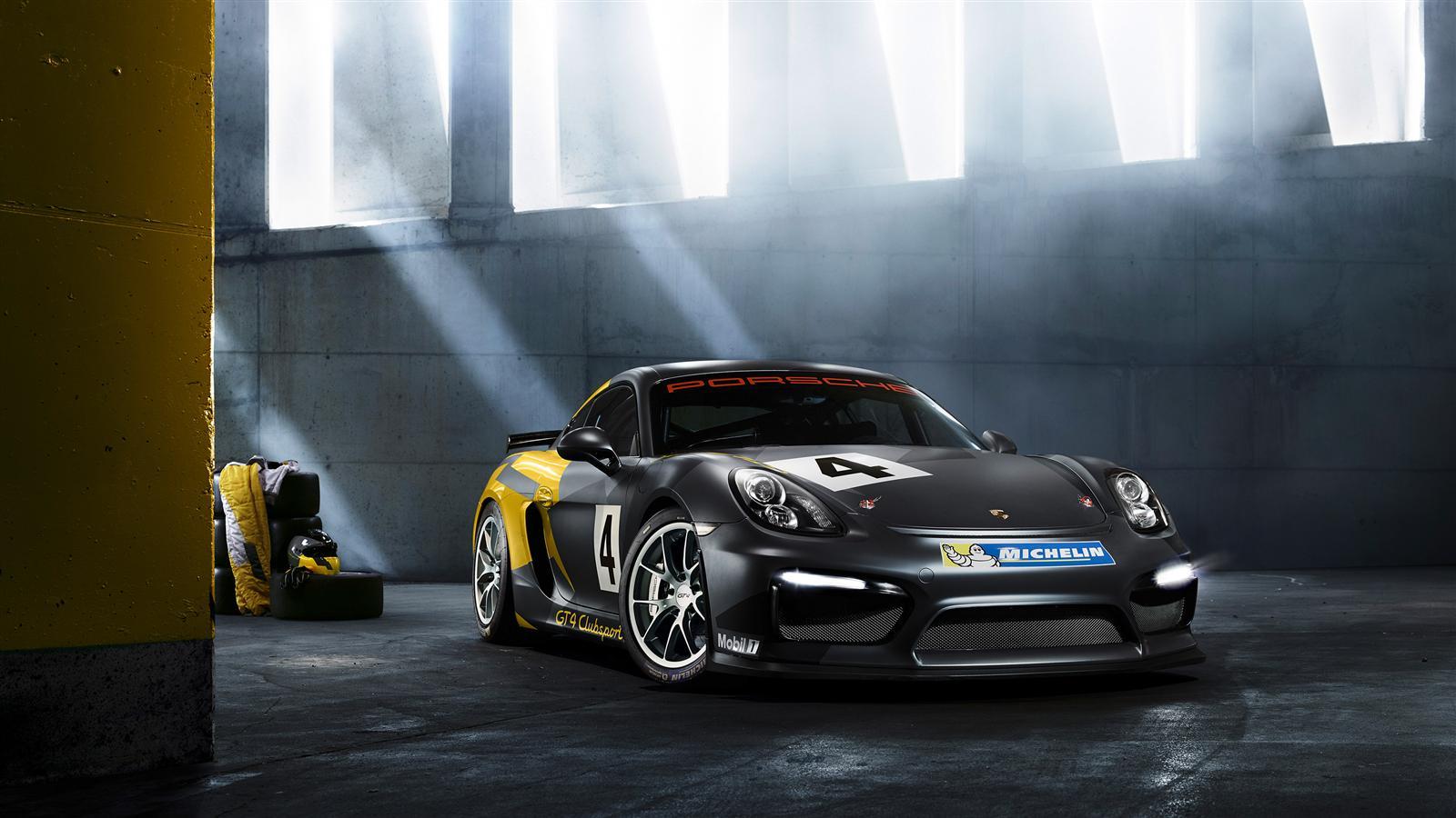 Porsche Cayman GT4 Clubsport - 2015 - profil avant / front side-face