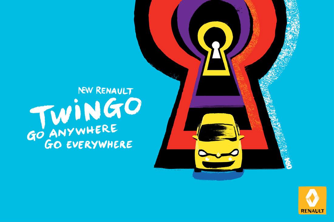 Serrure - Nouvelle Renault Twingo - Print - Kuntzel + Deygas