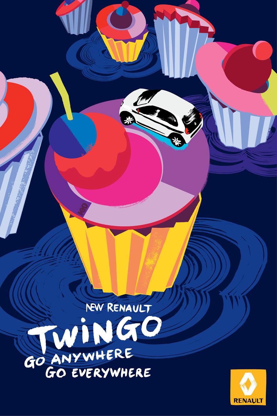 Dessert - Nouvelle Renault Twingo - Print - Kuntzel + Deygas