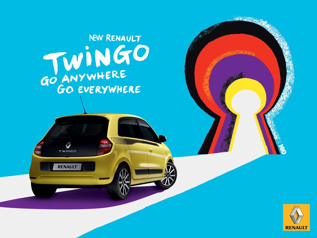 Trou de serrure - Nouvelle Renault Twingo - Print - Kuntzel + Deygas