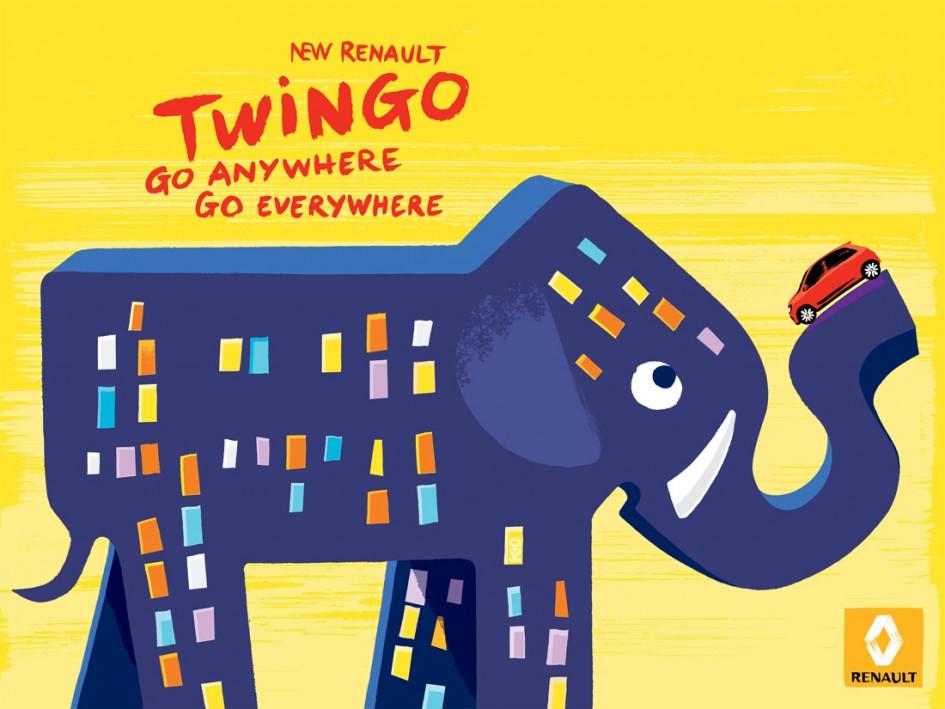 Éléphant - Nouvelle Renault Twingo - Print - Kuntzel + Deygas