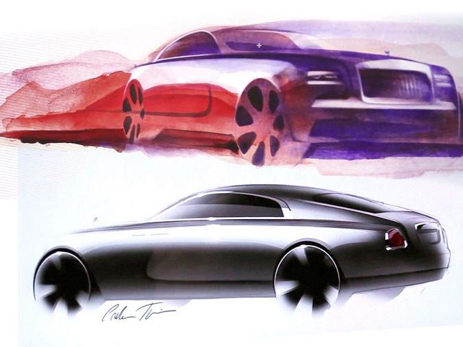 Rolls Royce Wraith - Sketch