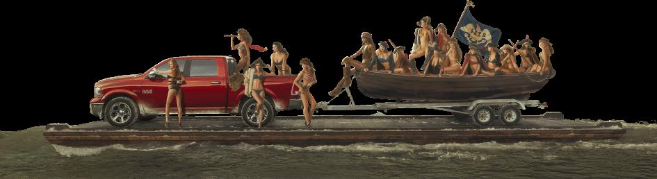 Web Painting - Ram Trucks 2015 Sports Illustrated Swimsuit Girls