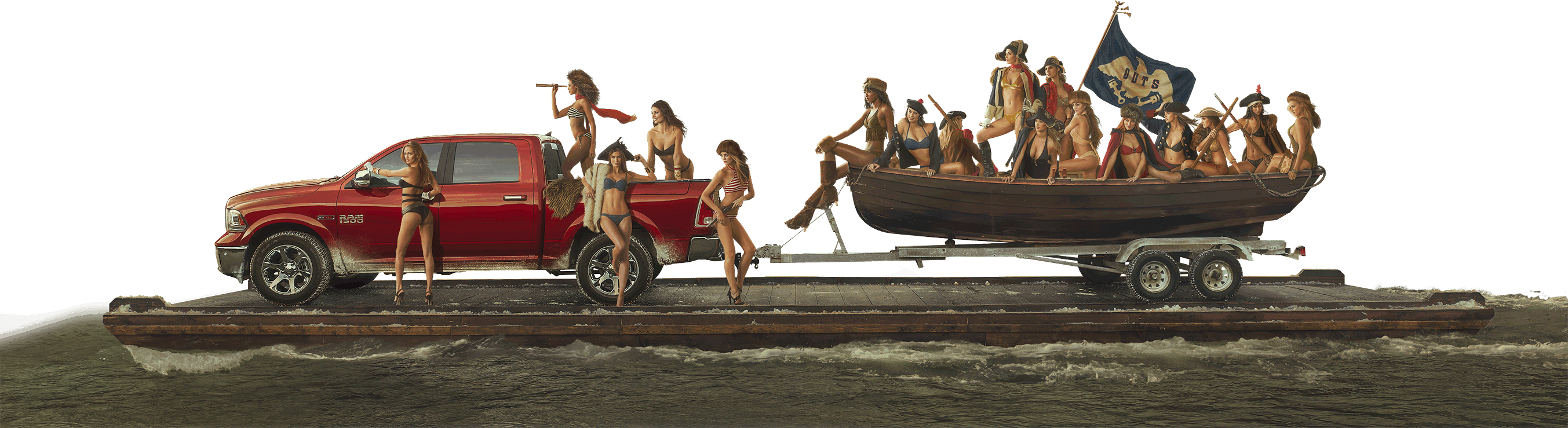 Web Painting - Ram Trucks 2015 Sports Illustrated Swimsuit Girls