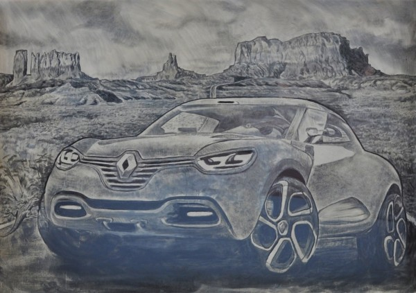 Renault - Dirty Car Art - Scott Wade