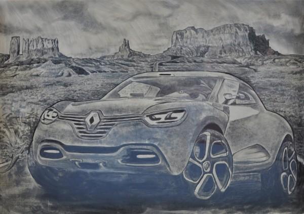 Renault - Dirty Car Art - Scott Wade