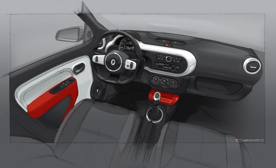 Design Intérieur Renault Twingo III
