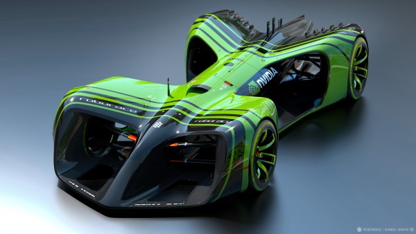 Robocar of Roborace via NVIDIA - Image by Chief Design Officer Daniel Simon / Roborace Ltd.