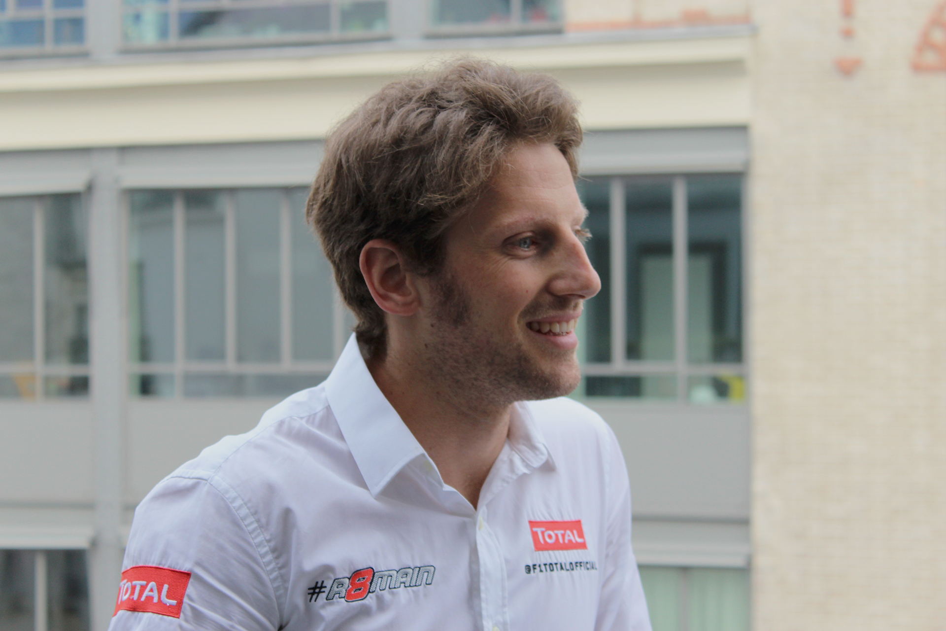 Romain Grosjean - interview - ThePretender NUMA - Paris 2015 - Photo Arnaud