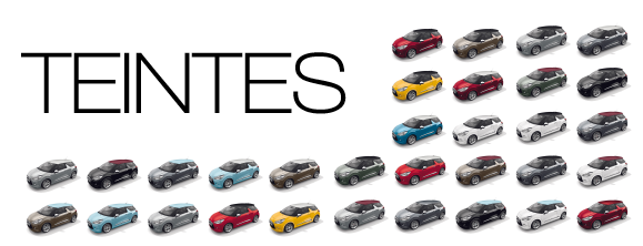 TEINTES : Toutes les voitures, tous les coloris, un site. All the cars, all the colors, one website.