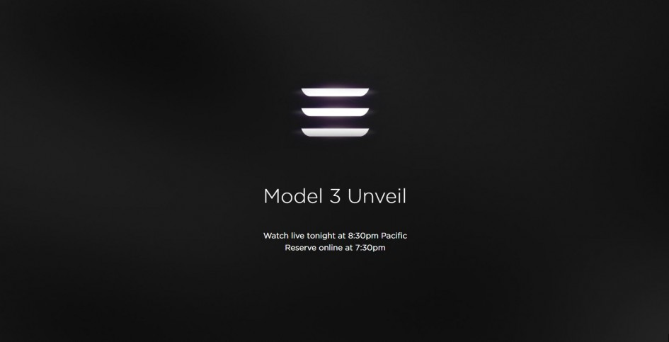 Tesla Model 3 - teaser-keynote 2016