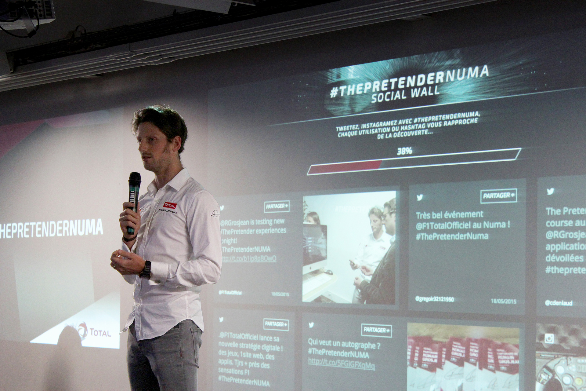 Discours de Romain Grosjean - ThePretender NUMA - Paris 2015 - Photo Arnaud