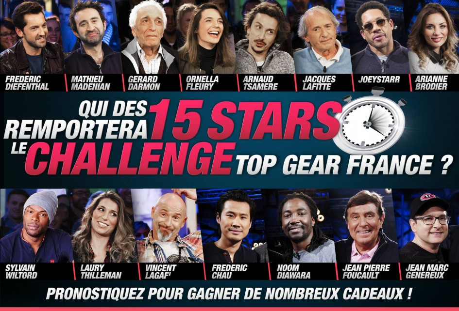 Top Gear France - 2016 - saison 2 - casting stars invités