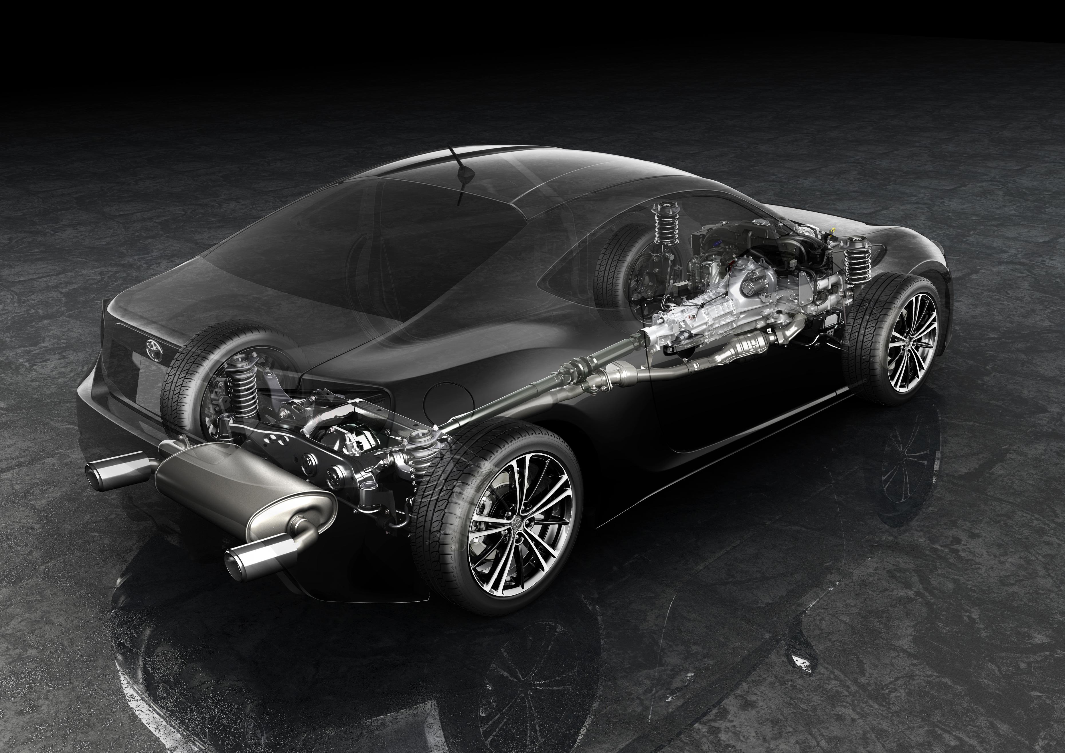 Toyota GT86 - rear / arrière - mechanical / mécanique
