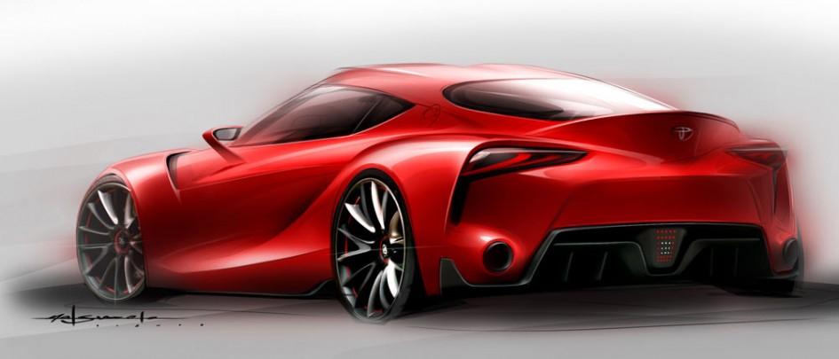 Extérieur arrière FT-1 Sketch - Toyota - Calty