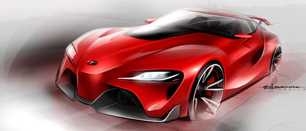 Extérieur avant FT-1 Sketch - Toyota - Calty