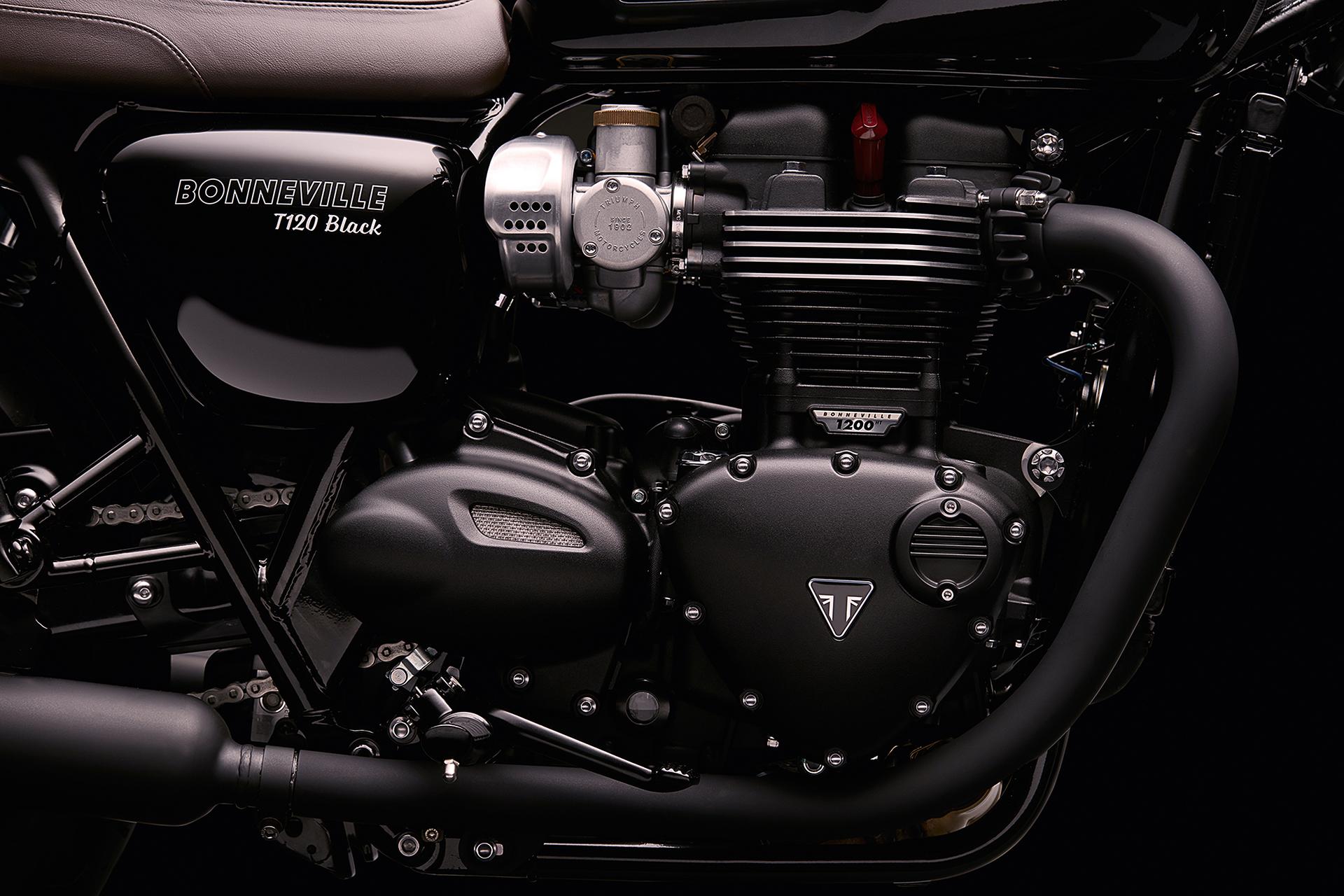 Triumph Bonneville T120 Black - 2016 - moteur