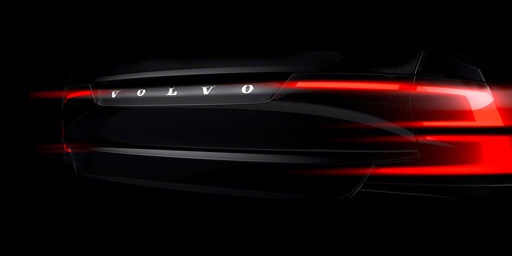 Volvo S90 - rear / arrière - teaser 2015