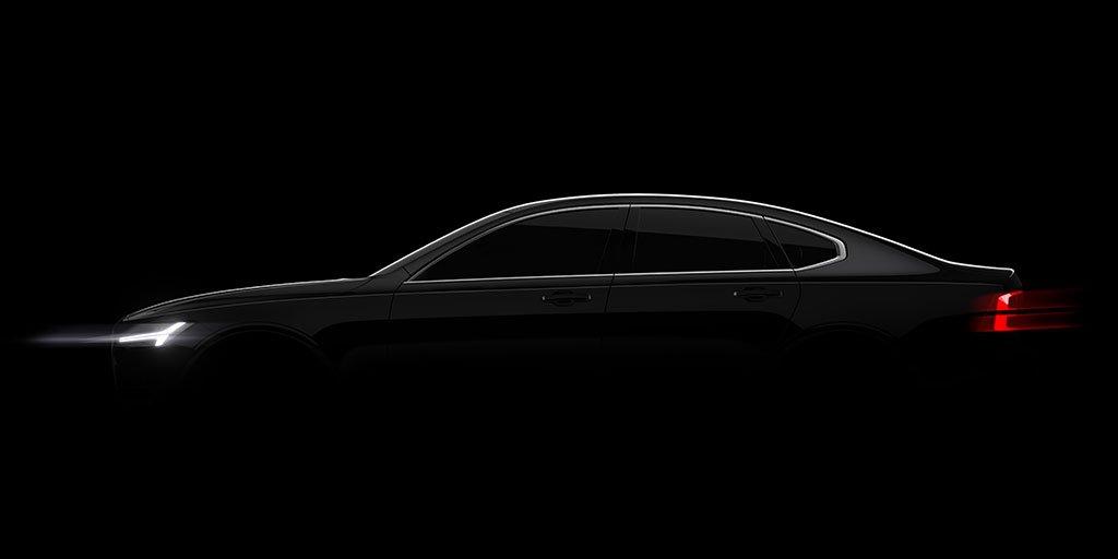 Volvo S90 - side-face / profil - teaser 2015
