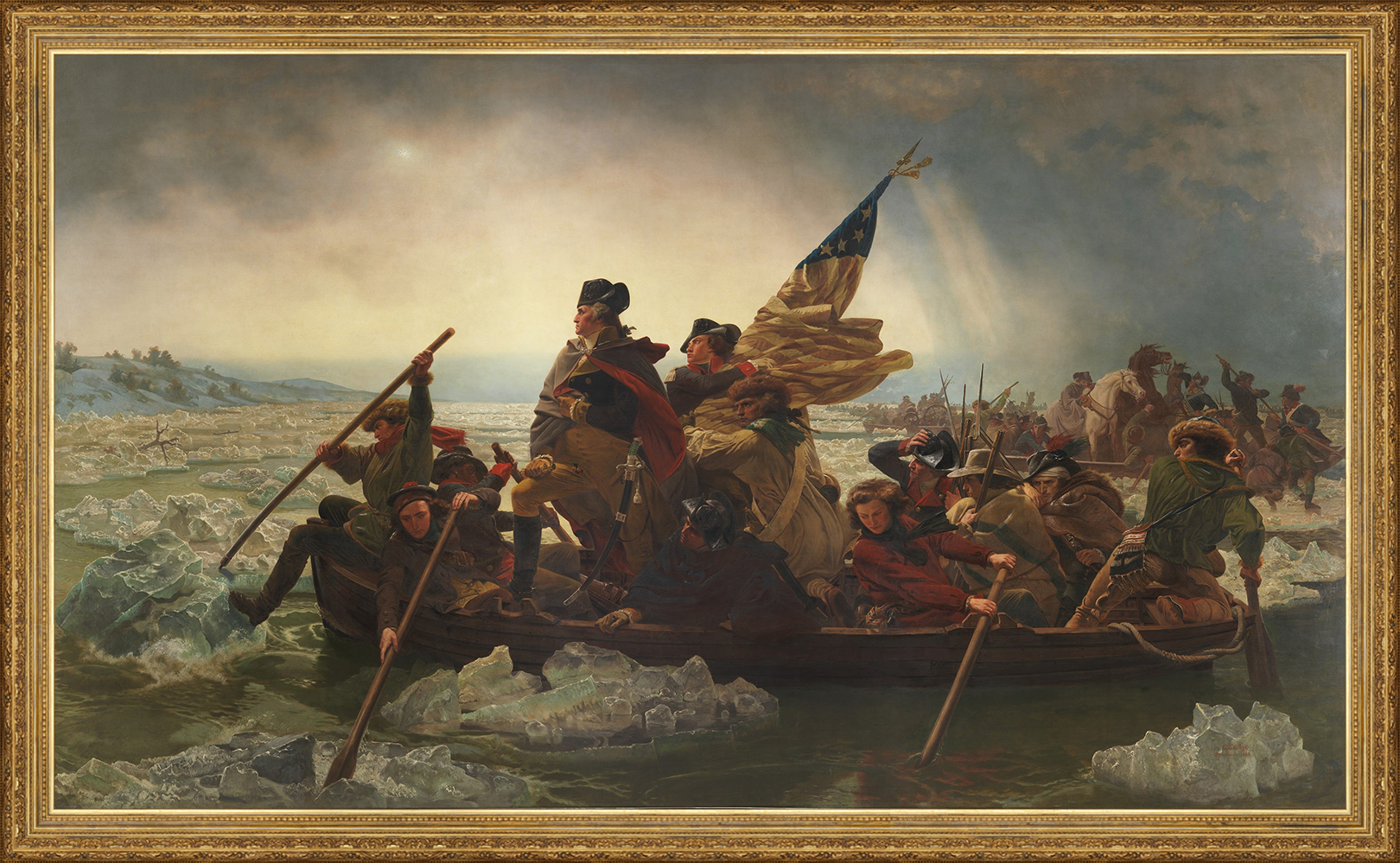 Painting - Washington Crossing the Delaware by Emanuel-Leutze-