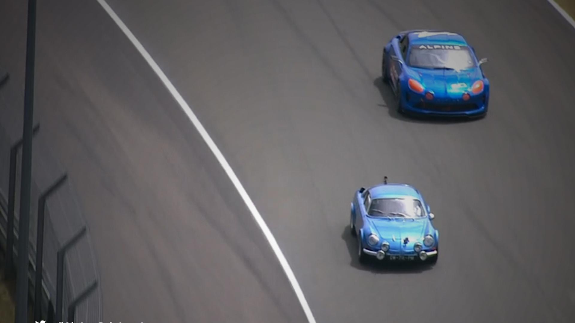 A110 et Alpine Célébration Concept, sur le circuit des 24 Heures du Mans