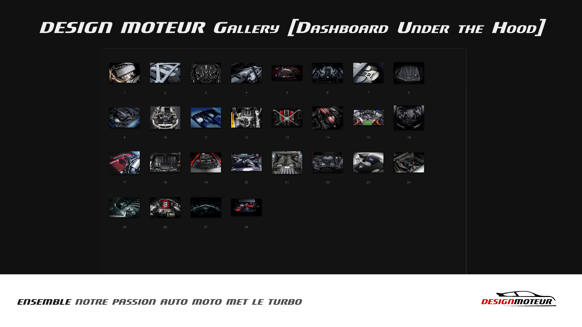 Artwork grid-start DESIGN MOTEUR Gallery Dashboard under the hood