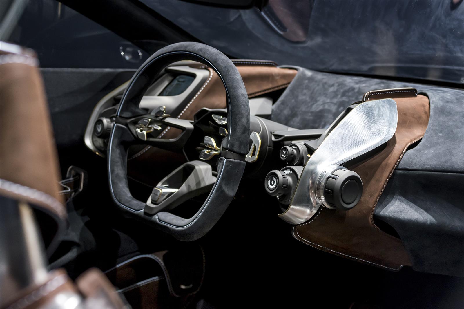 Aston Martin DBX Concept - intérieur volant - Geneva 2015
