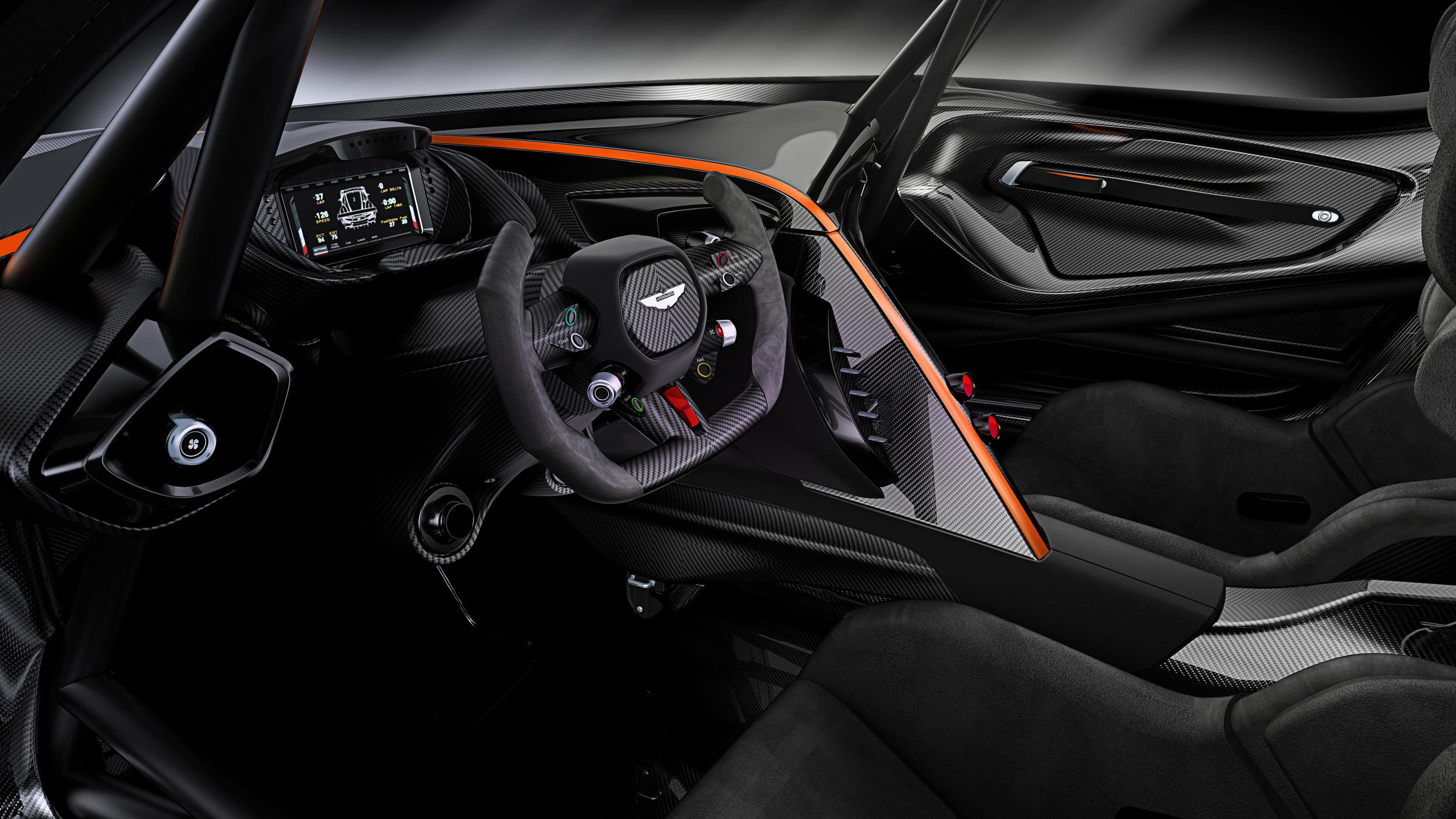 Aston Martin Vulcan - intérieur