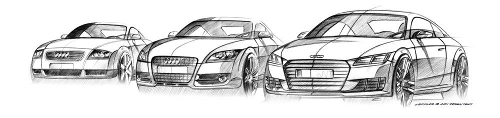 Sketch Audi TT design